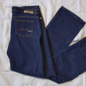 Parasuco jeans, dark wash, straight leg, mid-rise
